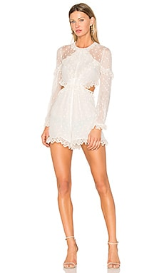 Divinity Scallop Romper in Ivory