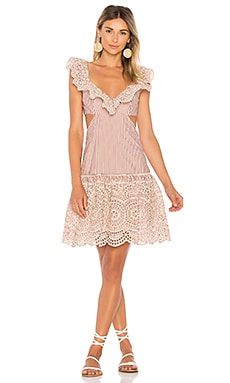 Meridian Stripe Frill Dress