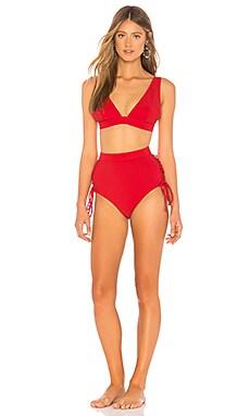 Castile Lace Up Bikini Set Zimmermann $183 Collections