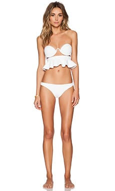 Zimmermann Anais Floral Frill Bikini Set in White