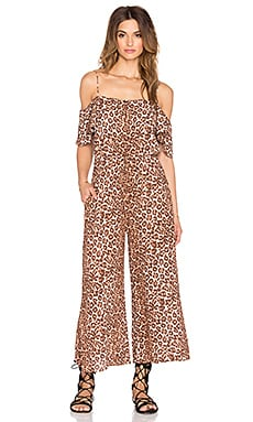 Zimmermann Alchemy Flounce Jumpsuit in Leopard