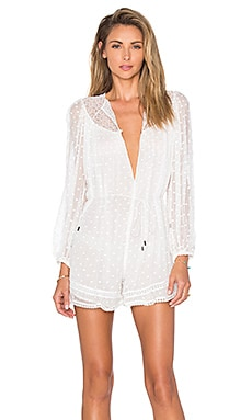 Zimmermann Belle Web Dot Playsuit in White