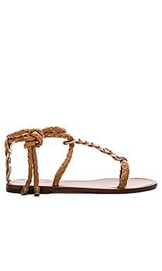 Zimmermann Link Weave Tie Sandal in Tan & Sand