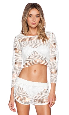 zinke Sadie Crop Top in White