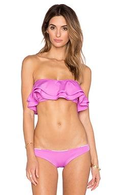 zinke Reese Bandeau Bikini Top in Radiant Orchid