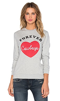Zoe Karssen Forever Cowboys Sweatshirt in Heather Grey