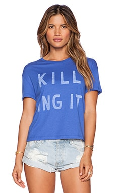 Zoe Karssen Killing it Box Tee in Dazzling Blue
