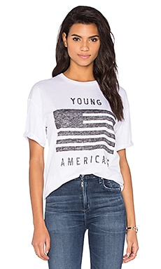 Young Americans Tee en Blanc Optique