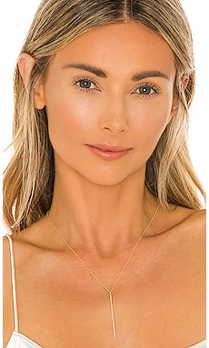 14k Gold Bar Necklace Zoe Lev $320