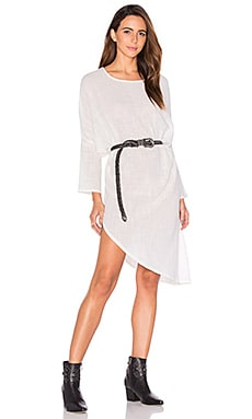 ZULU & ZEPHYR Solid Ground Dress in White