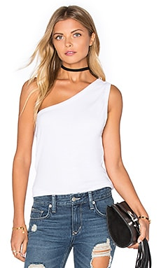 Scope One Shoulder Tank in White