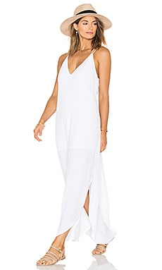 Dip Maxi Dress in White