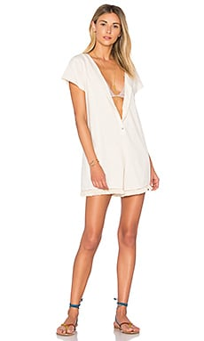 Dust Tassel Romper en Naturel