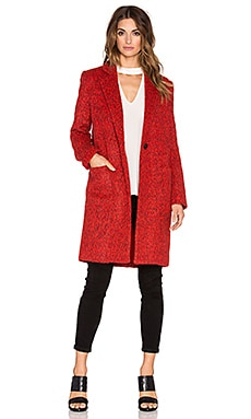 Zac Zac Posen Giselle Coat in Cosmic Crimson Melange