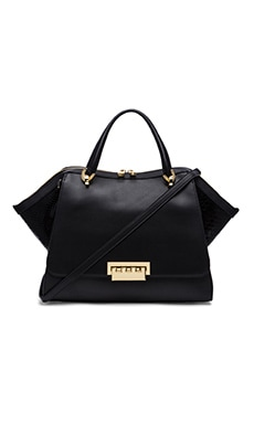 Zac Zac Posen Eartha Double Handle Satchel in Black