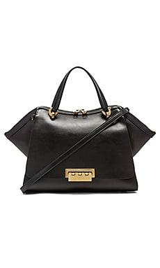 Zac Zac Posen Eartha Iconic Jumbo Double Handle Bag in Black