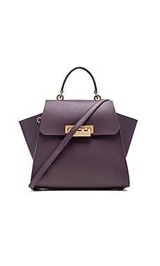Eartha Iconic Top Handle Bag in Raisin