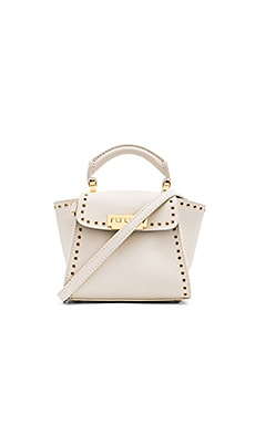 Zac Zac Posen Eartha Grommets Iconic Top Handle Mini Bag in Ivory