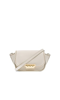 Eartha Grommets Iconic Accordion Crossbody Bag in Ivory