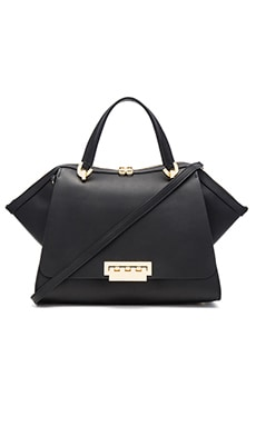 Zac Zac Posen Eartha Iconic Jumbo Double Handle Bag in Black