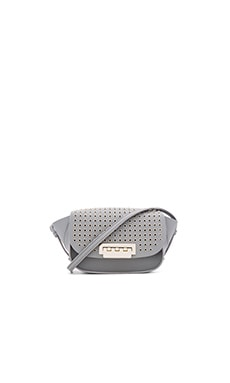 Zac Zac Posen Eartha Iconic Micro Accordion Crossbody Bag in Elephant