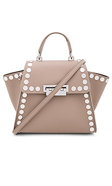 Eartha Iconic Top Handle Stud Bag em Malte