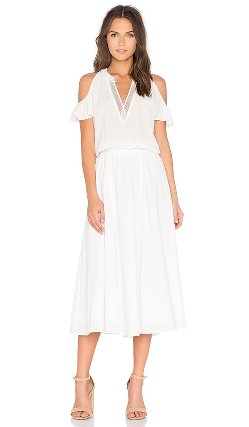 DEREK LAM 10 CROSBY Cold Shoulder Dress in White