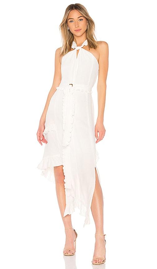 DEREK LAM 10 CROSBY Halter Dress in White
