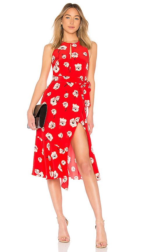 DEREK LAM 10 CROSBY Belted Dress in Red