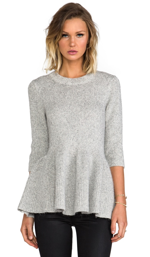 Metallic Peplum Sweater