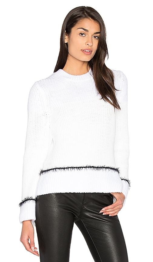 DEREK LAM 10 CROSBY Stripe Crewneck Sweater in White