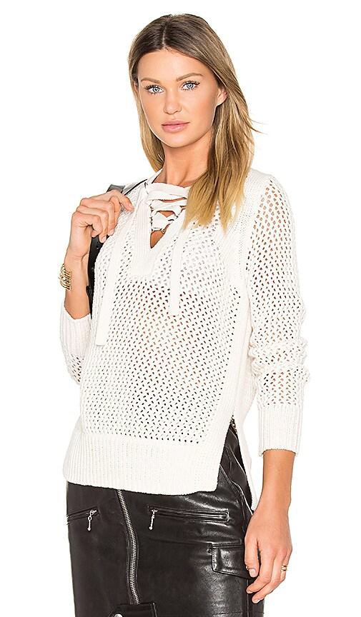 Lace Up V Neck Sweater