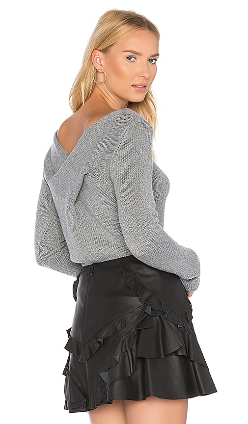 DEREK LAM 10 CROSBY Twist Back Sweater in Gray