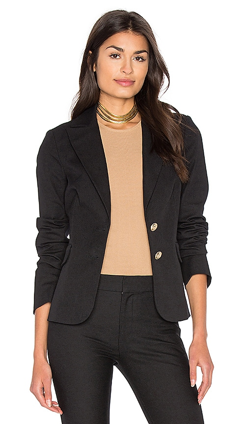DEREK LAM 10 CROSBY Patch Pocket Blazer in Black