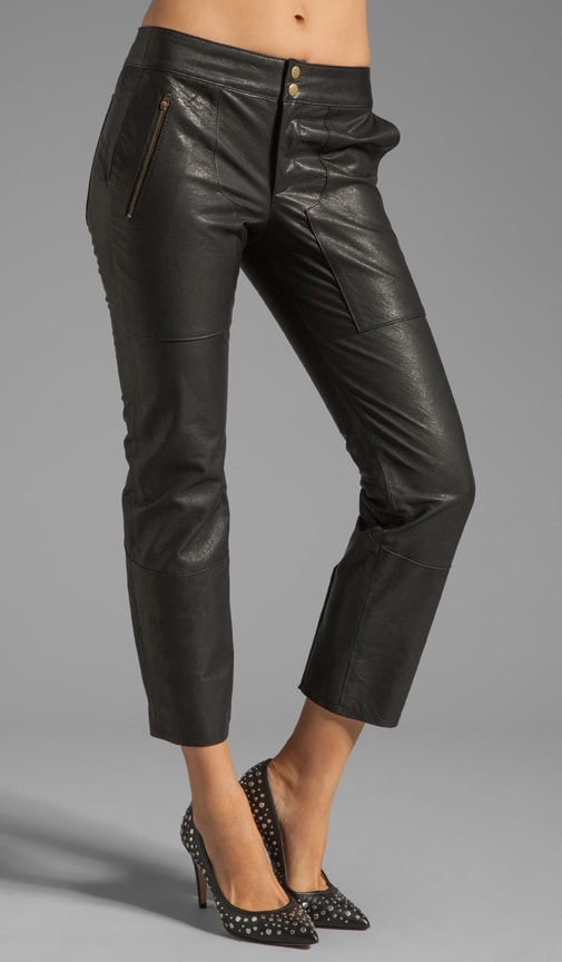 Slim Leather Pant with Lacing