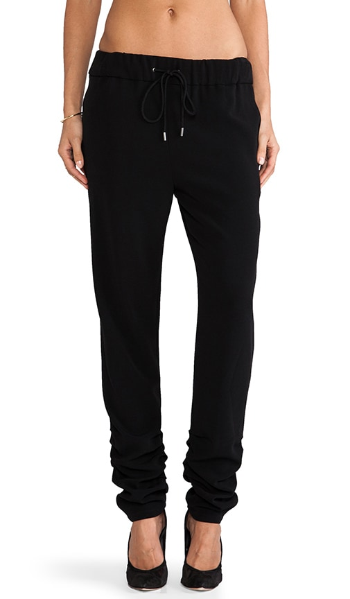 Ruched Ankle Track Pant