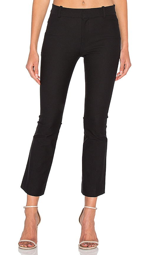 DEREK LAM 10 CROSBY Cropped Flare Trouser in Black