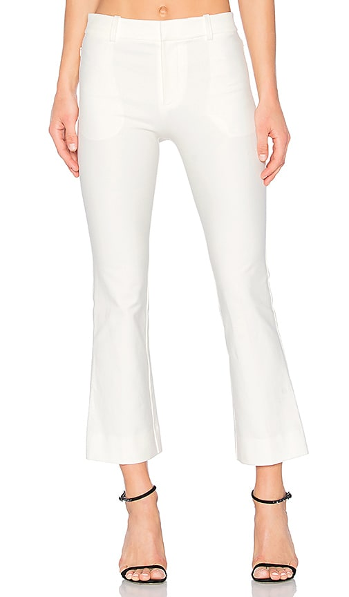 DEREK LAM 10 CROSBY Cropped Flare Trouser in White