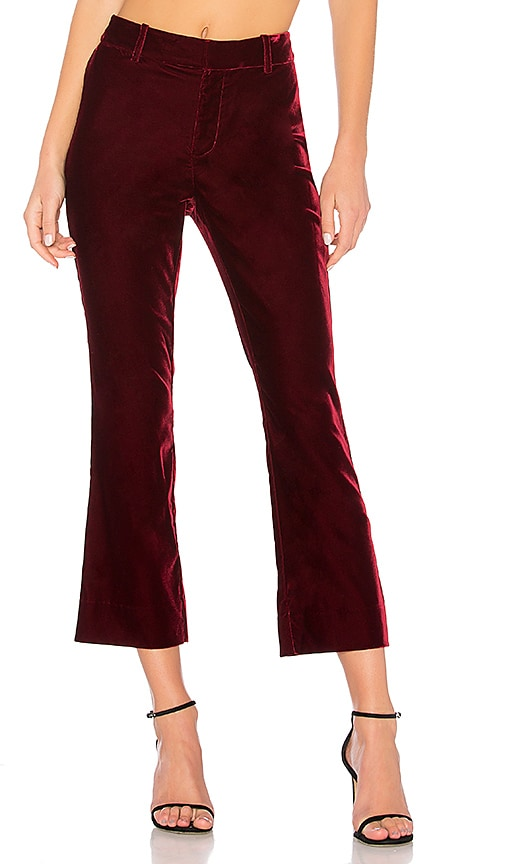 DEREK LAM 10 CROSBY Cropped Flare Pant in Wine
