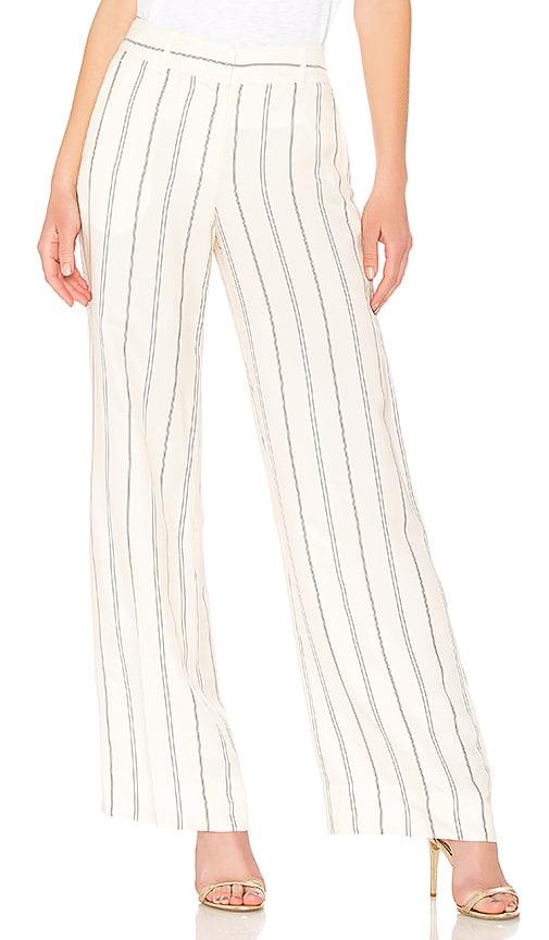 DEREK LAM 10 CROSBY Linen Pant in Cream