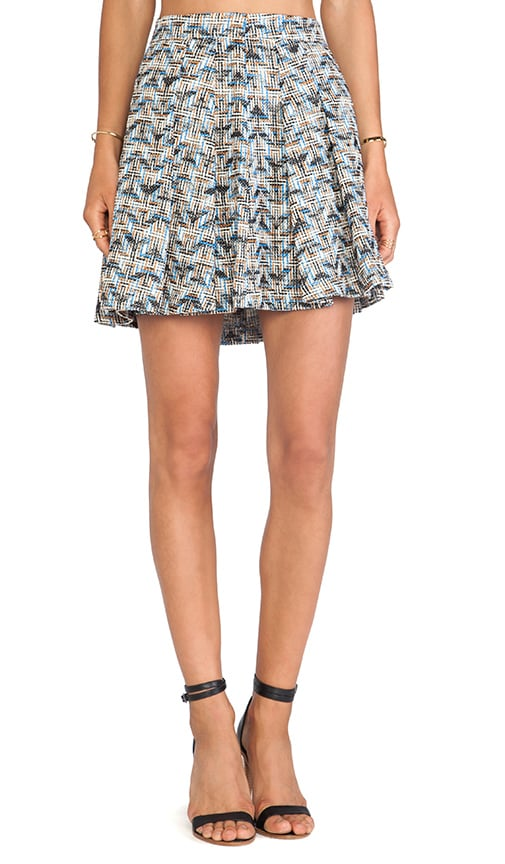 Box Pleat Short Skirt