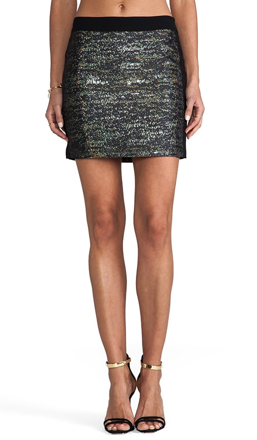 Digital Jacquard Mini Skirt