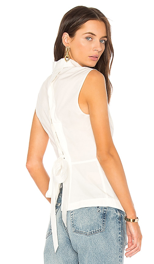 DEREK LAM 10 CROSBY Button Down Tank in White