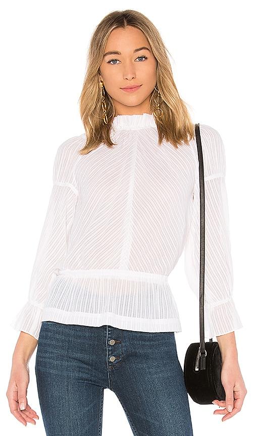 DEREK LAM 10 CROSBY Bell Sleeve Blouse in White