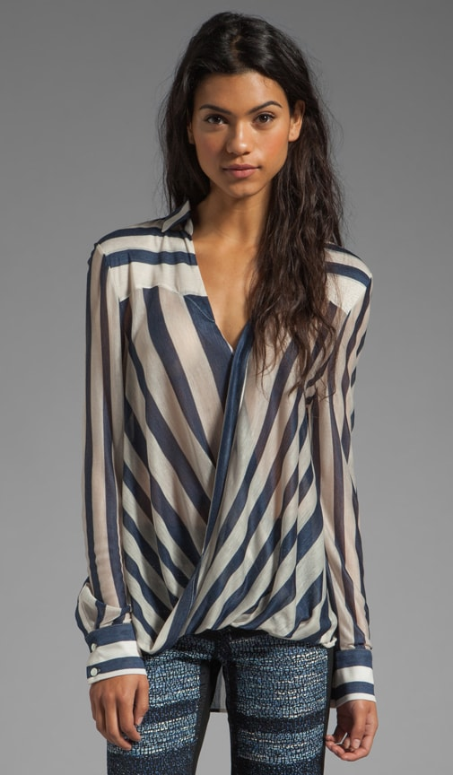 Draped Front Blouse