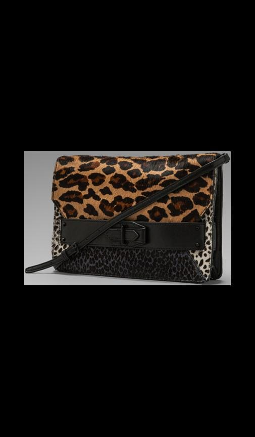 Mixed Leopard Print Folio Clutch