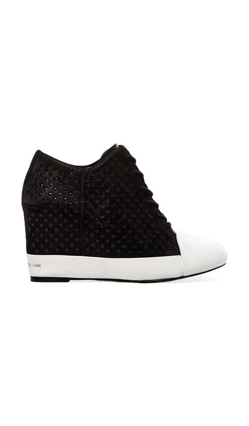Meryl Sneaker Wedge with Calf Fur