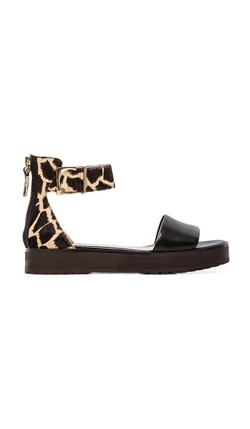 Dyls Sandal with Calf hair