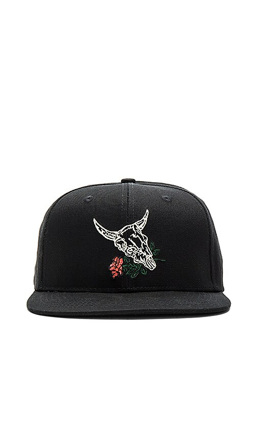 10 Deep Skeleton Snapback in Black