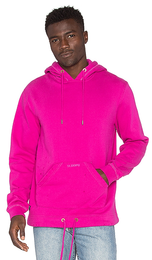 10 Deep Garment Supply Open Bottomed Hoodie in Fuchsia